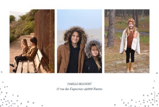 Carte de voeux Flocons de noël 3 photos bleu - Page 2