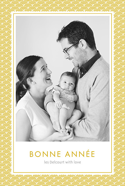 Carte de voeux Pattern 2 photos jaune finition