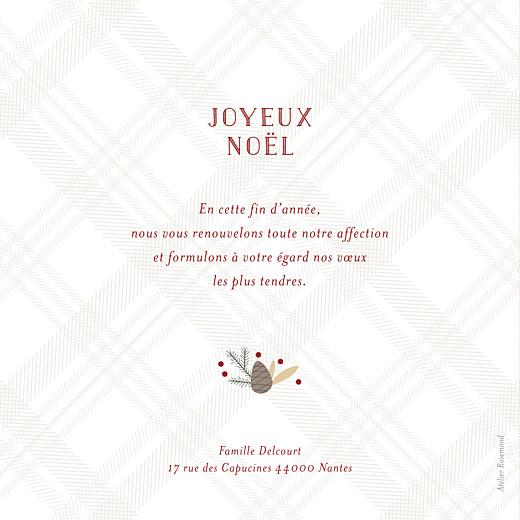 Carte de voeux Noël écossais 8 photos rouge - Page 2