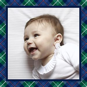 Carte de remerciement Petit écossais photo bleu & vert
