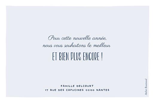 Carte de voeux Petite ardoise (dorure) bleu