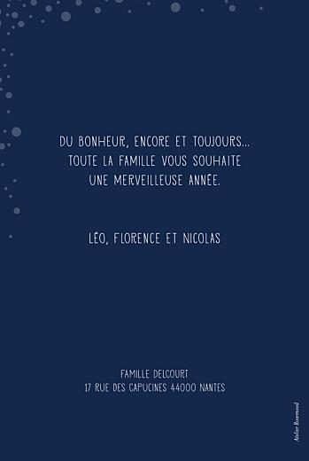 Carte de voeux Mille flocons photo bleu