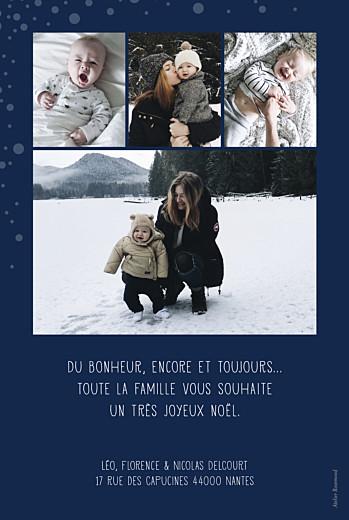 Carte de voeux Mille flocons de noël 5 photos bleu - Page 2