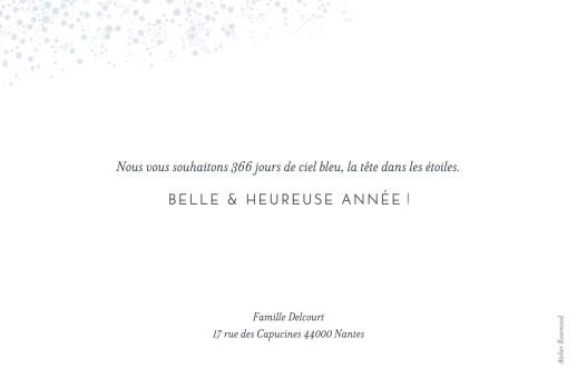 Carte de voeux Mille étoiles photo bleu - Page 2