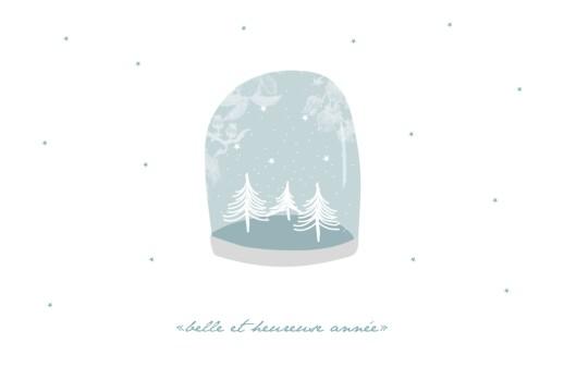Carte de voeux Boule à neige 3 photos bleu