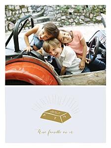 Affiche photo une famille en or bleu
