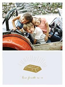 Affichette photo une famille en or bleu