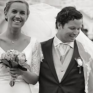 Carte de remerciement mariage kraft l'annonce kraft & bleu-violet