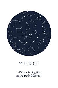 Carte de remerciement étoile ma petite étoile blanc