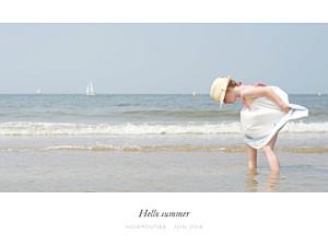 Affichette avec photo bandeau paysage blanc