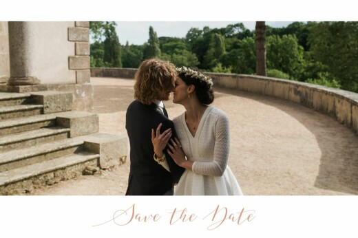 Save the Date Bandeau 1 photo paysage blanc