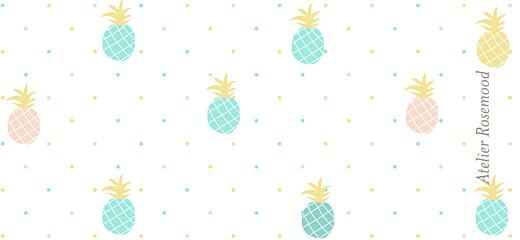 Etiquette perforée baptême Ananas vert - Page 2