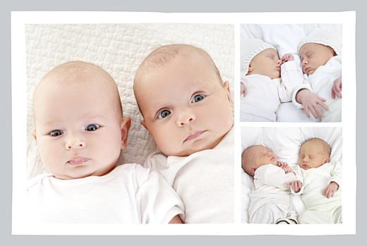Faire-part de naissance Jumeaux dandys 4 pages gris - Page 2