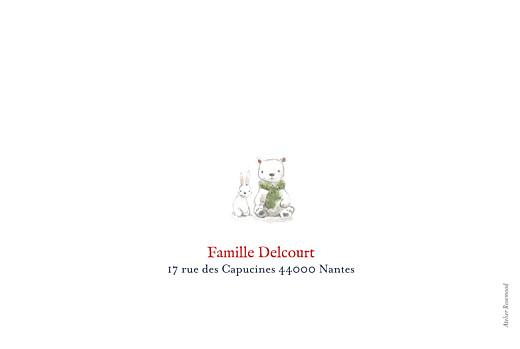 Faire-part de naissance Conte polaire photo paysage bleu - Page 4