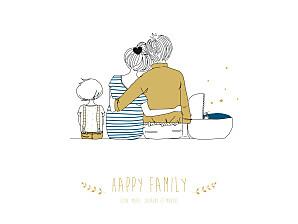 Affiche Lovely family 2 enfants (baby) garçons