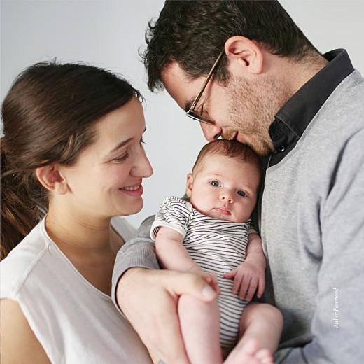 Faire-part de naissance Ma perle 3 photos (dorure) blanc - Page 4