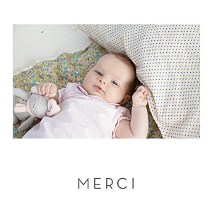 Carte de remerciement dorure merci élégant cœur (dorure) blanc