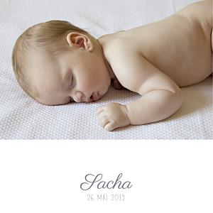 Faire-part de naissance Ruban étoilé 2 photos (dorure) gris