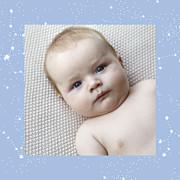 Faire-part de naissance Univers 4 photos (triptyque) bleu page 2