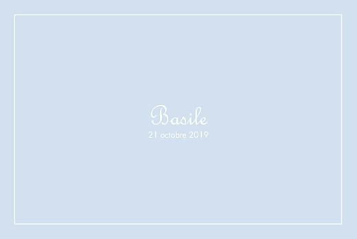 Faire-part de naissance Classique liseré paysage bleu layette