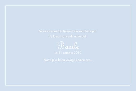 Faire-part de naissance Classique liseré paysage bleu layette - Page 3
