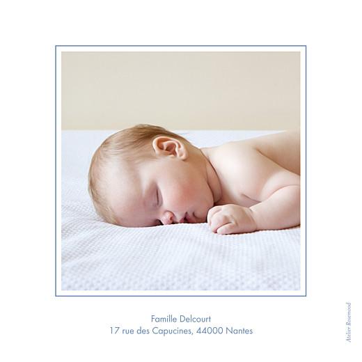 Faire-part de naissance Classique liseré bilingue bleu wedgwood - Page 4