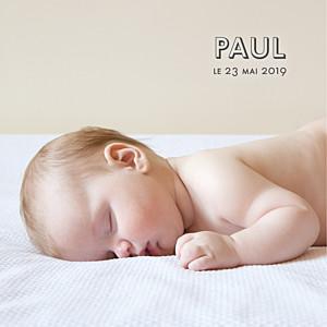 Faire-part de naissance avec photo the photo ! (carrée) blanc
