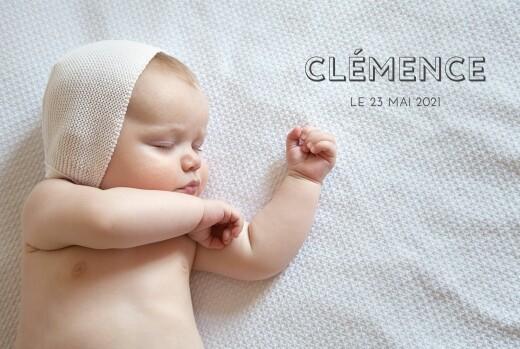 Faire-part de naissance The photo ! paysage (4 pages) blanc