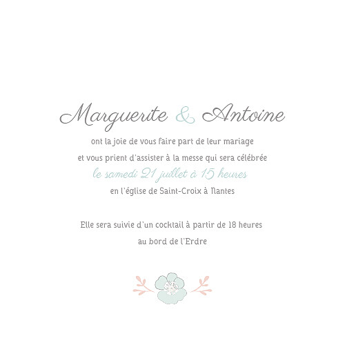 Faire-part de mariage Couronne champêtre (4 pages) menthe - Page 3