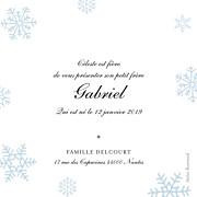 Faire-part de naissance Premiers flocons (triptyque) bleu clair page 3