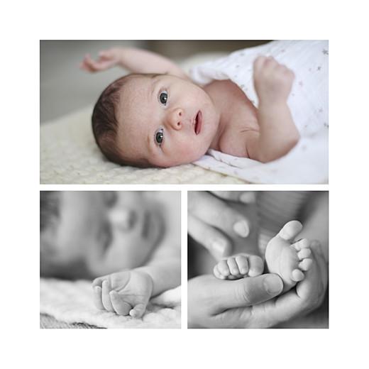 Faire-part de naissance Petites montagnes 3 photos bleu - Page 2