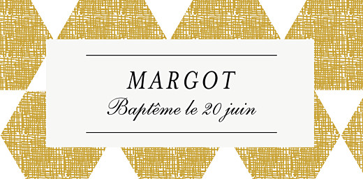Marque-place Baptême Toile de lin jaune - Page 4