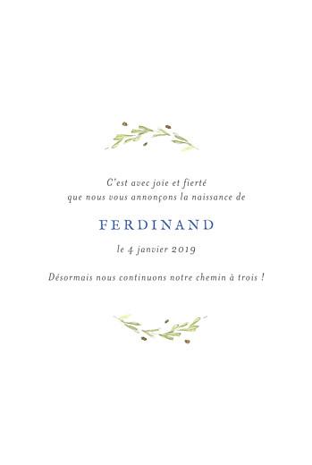 Faire-part de naissance Renard aquarelle 3 photos bleu - Page 3