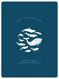 Affiche Baleine extraordinaire bleu