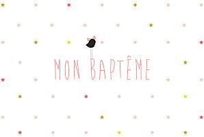 Faire-part de baptême Lovely kid rose