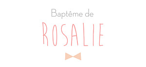 Etiquette de baptême rose lovely kid rose