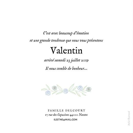 Faire-part de naissance Douceur champêtre (dorure) bleu - Page 2