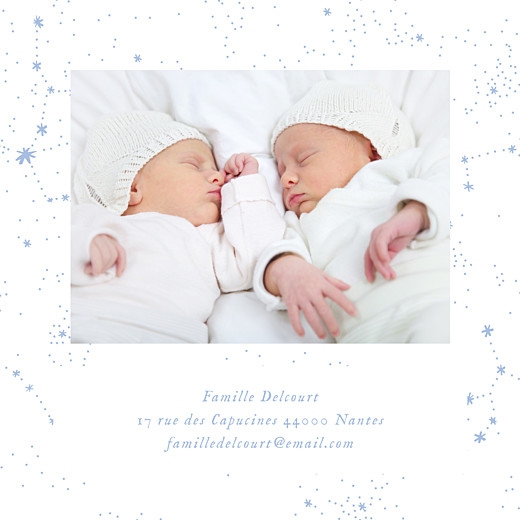 Faire-part de naissance Univers 4 photos (triptyque) bleu - Page 5