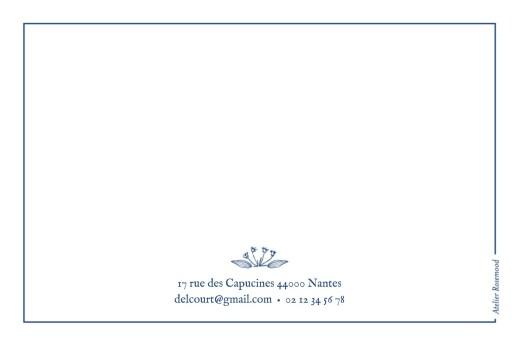 Carte de correspondance Nature chic bleu - Page 2