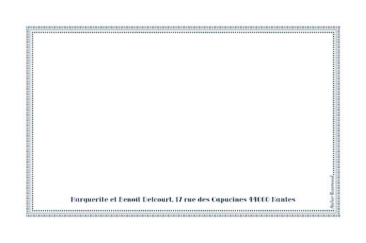 Carte de correspondance Monogramme bleu nuit - Page 2