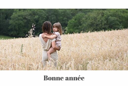 Carte de voeux Bandeau 1 photo paysage blanc