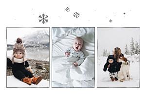 Faire-part de naissance automne-hiver promesse d'hiver 3 photos rv blanc