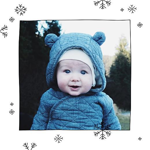 Carte de remerciement Promesse d'hiver photo blanc - Page 2