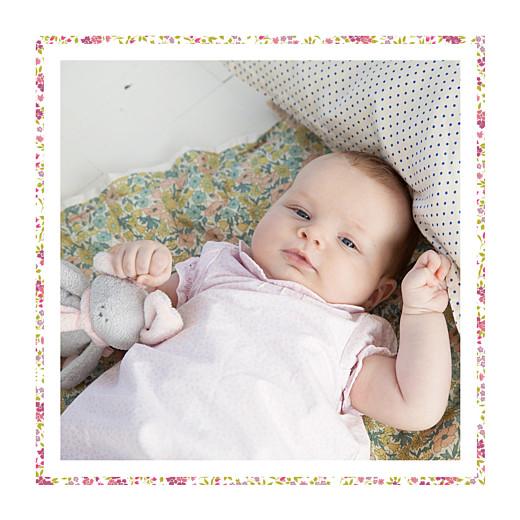 Faire-part de naissance Liseré liberty (triptyque) rose - Page 6