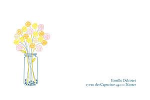 Carte de correspondance jaune instant fleuri jaune