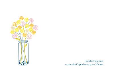 Carte de correspondance Instant fleuri jaune finition