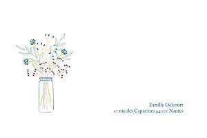 Carte de correspondance Instant fleuri blanc