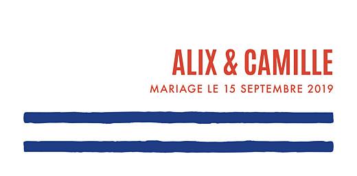 Marque-place mariage Marinière bleu & orange - Page 4