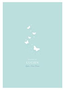 Livret de messe Papillons bleu