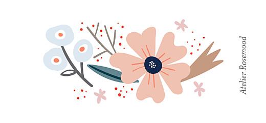 Etiquette perforée baptême Ruban de fleurs blanc - Page 2